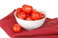 Bowl of cherry tomatoes Stock Image