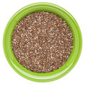 Bowl of chia seeds Stock Image