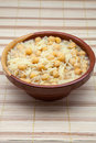 Bowl of chickpeas cooked with noodles Stock Images