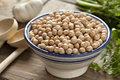 Bowl with chickpeas ready to cook Royalty Free Stock Images