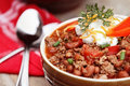 Bowl of Chili Con Carne Royalty Free Stock Photo