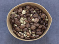 Bowl of coffee beans Stock Photography