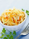 Bowl of coleslaw Stock Images
