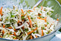 Bowl Coleslaw Stock Photos