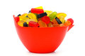Bowl with colorful candy Royalty Free Stock Images