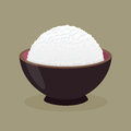 Bowl of Cooked Steamed Rice Royalty Free Stock Photo