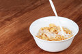Bowl of cornflakes with milk Royalty Free Stock Photo