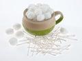 Bowl of Cotton Balls Royalty Free Stock Photo