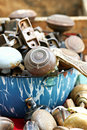 Bowl of Doorknobs Stock Images