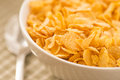 Bowl filled with breakfast cereal Royalty Free Stock Photography