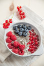 Bowl of fresh mixed berries Royalty Free Stock Photo
