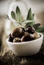 Bowl of fresh organic olives Stock Images