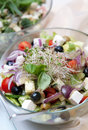 Bowl of fresh salad Royalty Free Stock Photos