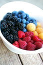 Bowl with fresh summer fruit Royalty Free Stock Photo