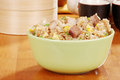 Bowl of fried asian rice Stock Photography