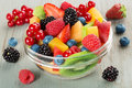 Bowl of fruit cocktail Royalty Free Stock Photo