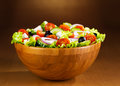 Bowl of greek salad Royalty Free Stock Photo