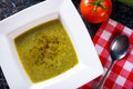 Bowl of green bean soup white healthy Royalty Free Stock Photos