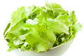 Bowl of green salad leafs Royalty Free Stock Images