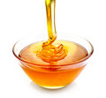 Bowl of honey Royalty Free Stock Photo