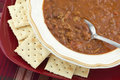 Bowl of Hot Homemade Chili Stock Photography