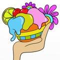 Bowl of ice cream Royalty Free Stock Photo