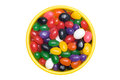 Bowl of jellybeans Stock Photos