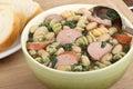 Bowl of Kielbasa Soup Royalty Free Stock Photo