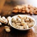 Bowl of macadamia nuts Royalty Free Stock Photo
