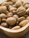Bowl Of Mixed Nuts Royalty Free Stock Photo