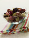 Bowl of mixed olives Stock Photo