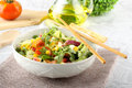 Bowl of mixed salad Royalty Free Stock Photos