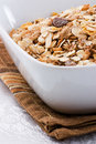 Bowl of Muesli Stock Images