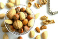 Bowl of nuts Royalty Free Stock Photos