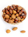 Bowl of nuts Royalty Free Stock Images