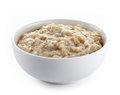 Bowl of oats porridge Royalty Free Stock Photo