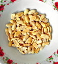 Bowl of peanuts salt roasted Stock Image