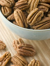 Bowl of Pecan Nuts Stock Photo