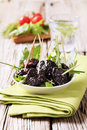 Bowl of prunes Royalty Free Stock Photography
