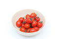 Bowl of red cherry tomatoes in a Stock Photos
