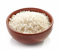 Bowl of round rice Royalty Free Stock Photo