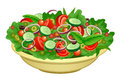 Bowl of salad Royalty Free Stock Photo