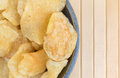 Bowl of salt and vinegar flavored potato chips Royalty Free Stock Photo
