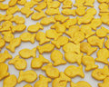 Bowl of salty goldfish crackers Royalty Free Stock Images