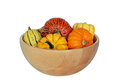 Bowl of seasonal squash Royalty Free Stock Photos