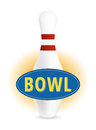 Bowl sign in blue and yellow with pin Royalty Free Stock Image