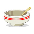 Bowl and spoon vector illustration of an empty with Royalty Free Stock Photo