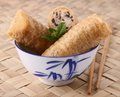 Bowl of spring roll Stock Photos