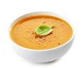 Bowl of squash soup Royalty Free Stock Photo