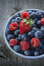 Bowl Summer Berries Fruit Royalty Free Stock Photo